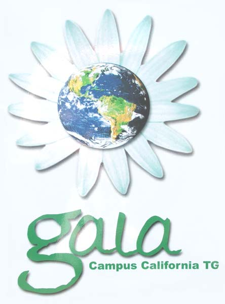 "clothing bin cult's intentionally misleading ""gala"" logo (should be ""gaia"")"